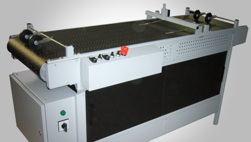 Vacuum and Rubber Belt Conveyors for inkjet tape application and inspection systems