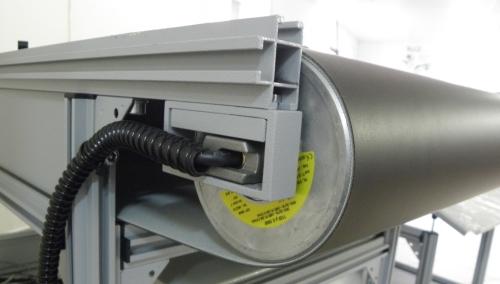 RB Motor Cylinder Belt Conveyor
