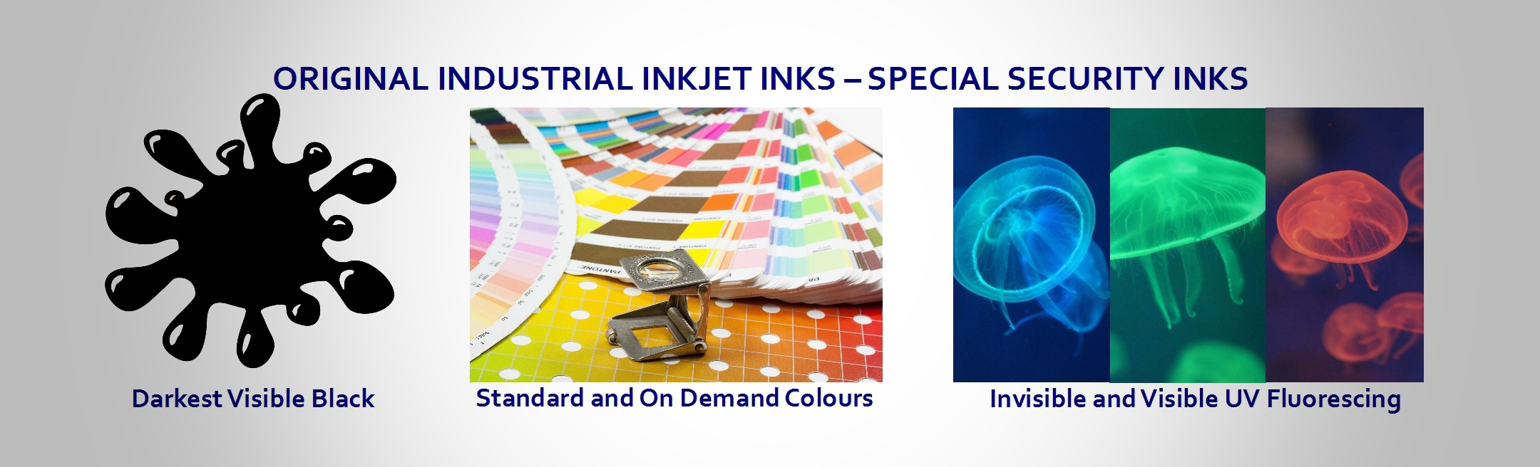 Security Industrial fluorescent invisible MICR Inks