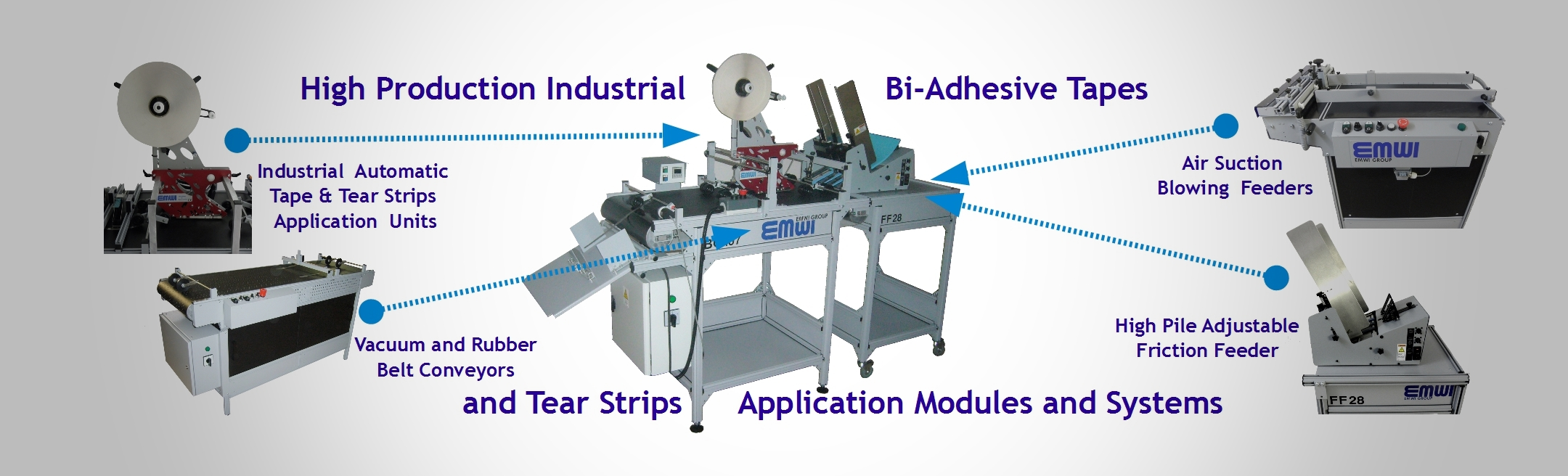 Tape and tear strips application systems industrial