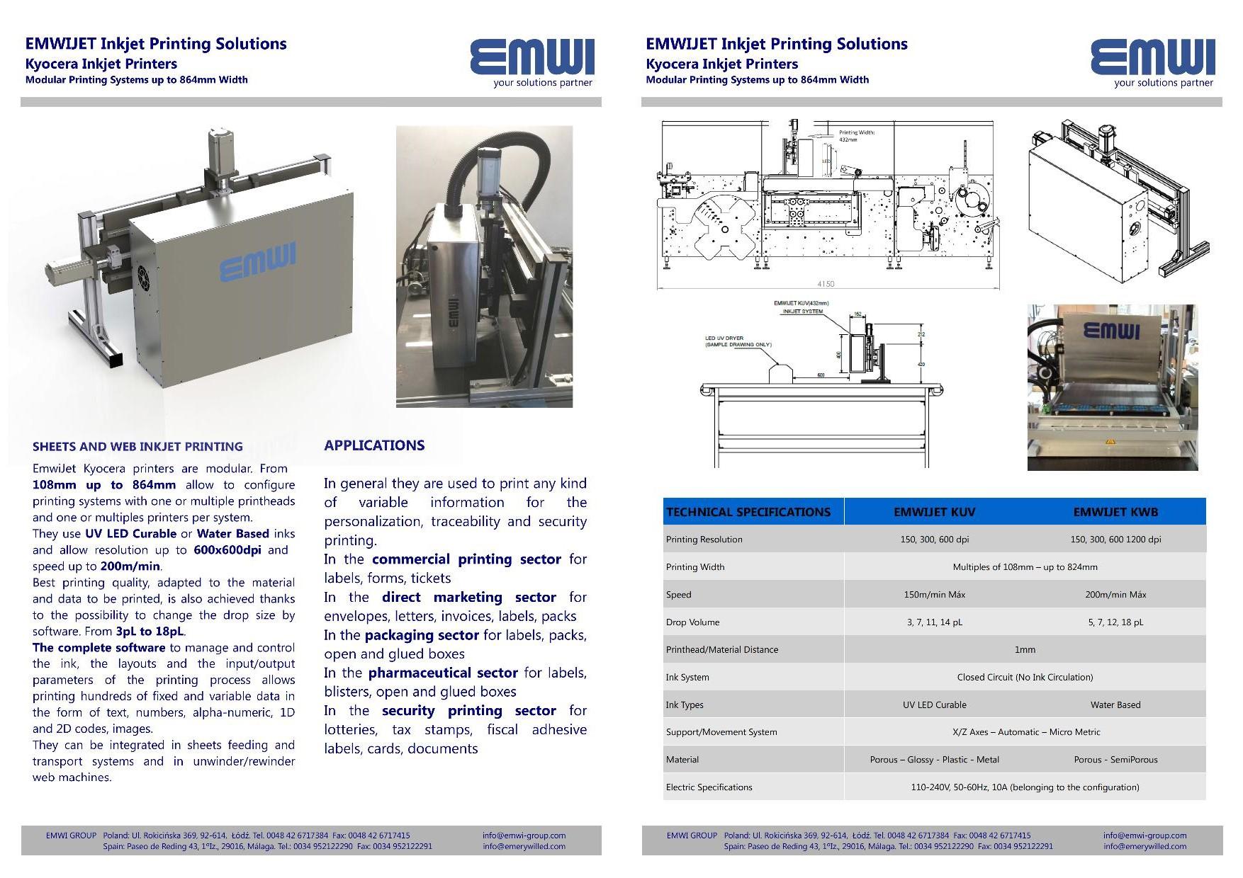 Kyocera Inkjet System Printer Emwi