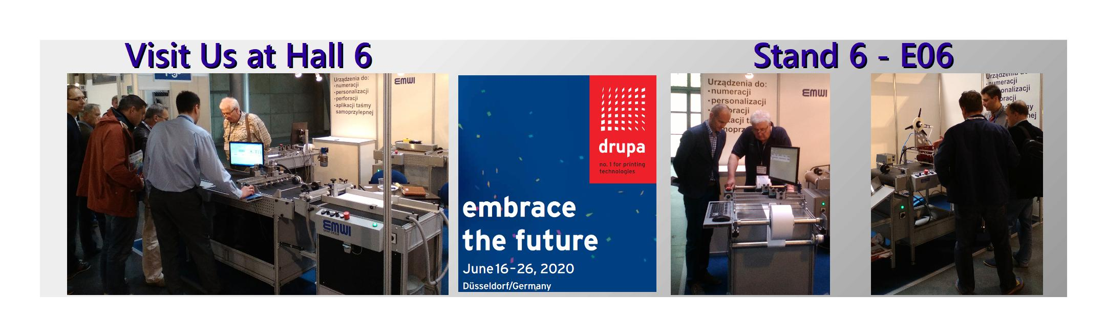 Drupa 2020 Emwi Group Hall 6 Stand 6E06